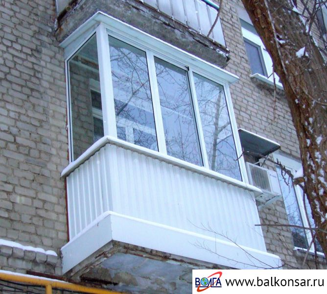 Алюминиевые балконы с независимой крышей волга ооо волга - п.