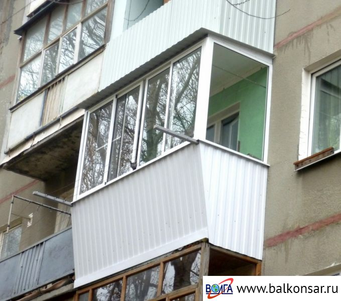 Алюминиевые балконы в брежневке фото. - первое оконное бюро .