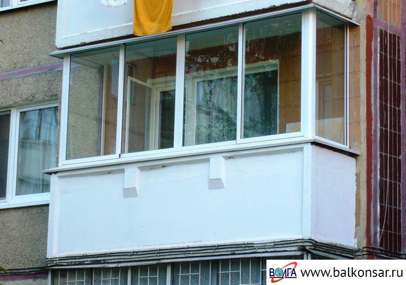 Остекление балконов и лоджий 90 серии самаре.