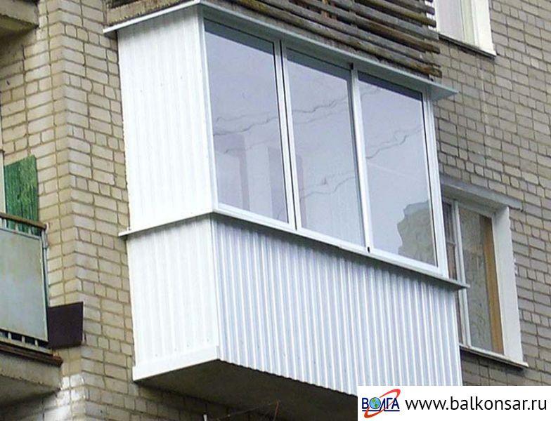 Балконы с внешней отделкой волга ооо волга - производственна.